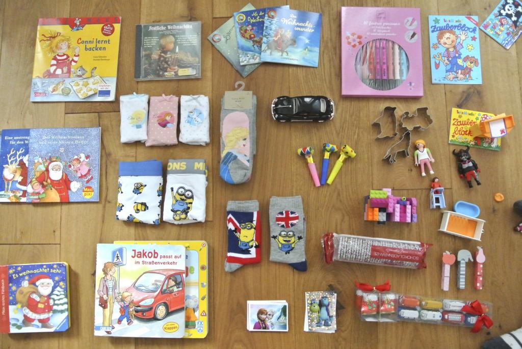 Adventskalenderfüllen Ideen für Kinder