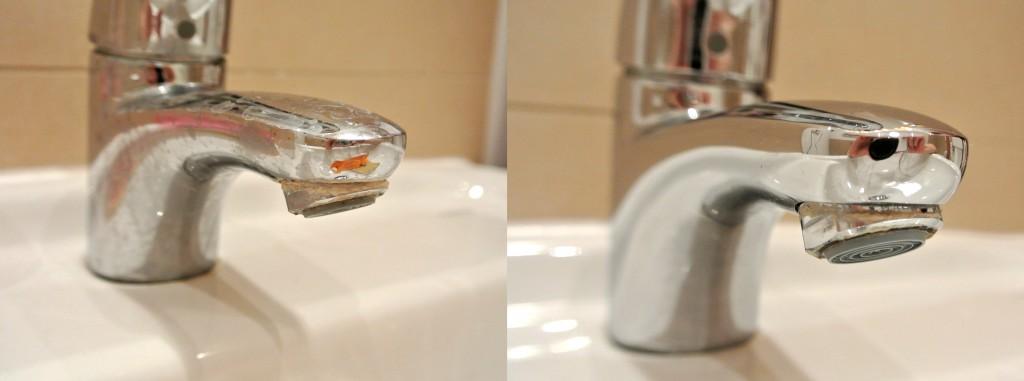 Badwasserhahn reinigen mit Clean-o-fox
