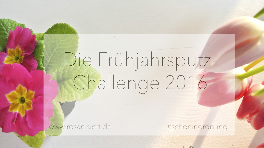 Heute starte ich mit der ultimativen Frühjahrsputz Challenge - mcht ihr mit?   Rosanisiert - der Ordnungsblog für Unordentliche