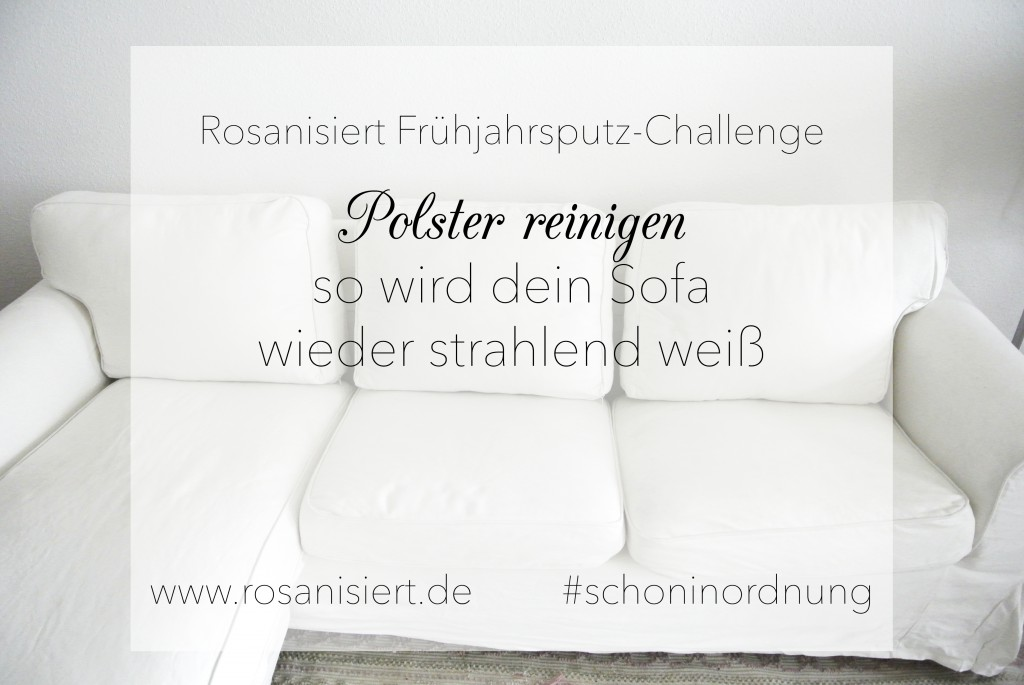 fr hjahrsputz challenge polster reinigen rosanisiert. Black Bedroom Furniture Sets. Home Design Ideas