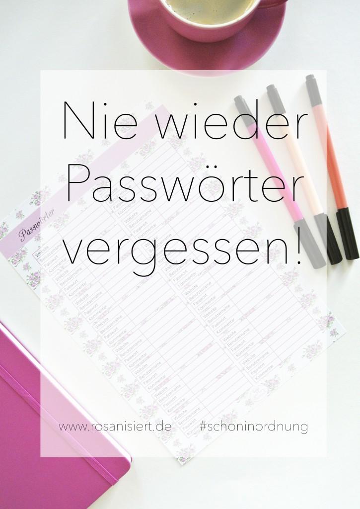 Nie wieder Passwörter vergessen - Rosanisiert