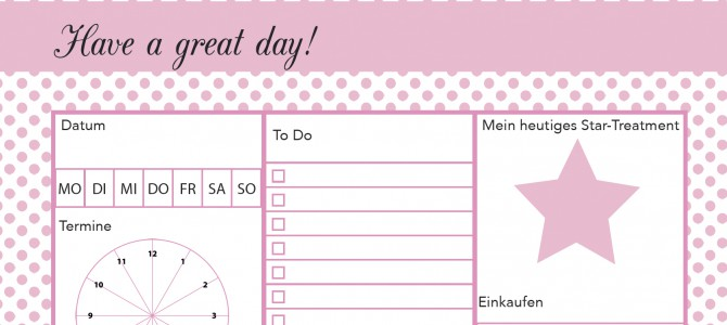 Printable-Friday: Die schönste To-do-Liste der Welt