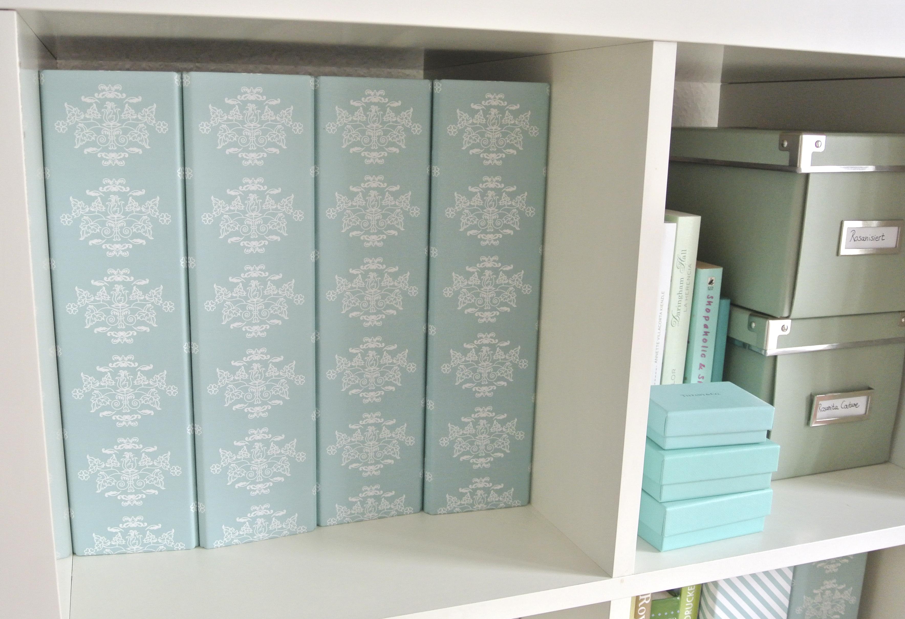 sch ne ordner rosanisiert gibt es jetzt auch in t rkis. Black Bedroom Furniture Sets. Home Design Ideas