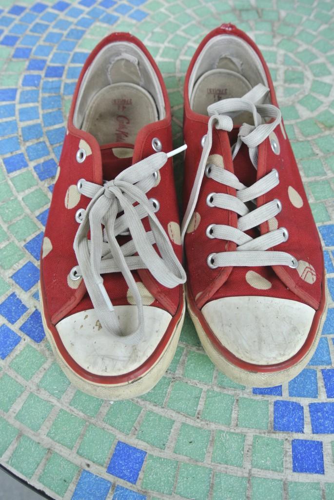 Sneakers vorher