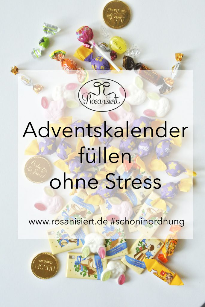 Adventskalender füllen ohne Stress | Rosanisiert der Blog über Ordnung, Putzen und Glamour für Unordentliche