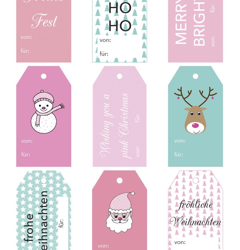 Hol dir die schönen kostenlosen Geschenkanhänger zum Ausdrucken auf Rosanisiert - dem Blog über Ordnung, Putzen und Glamour #schoninordnung #freeprintable