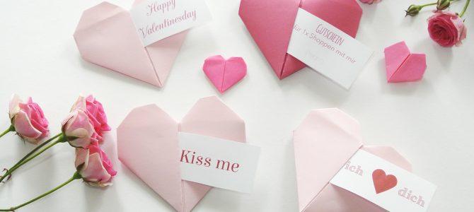 Origami Herz – eine tolle Geschenkidee für den Valentinstag