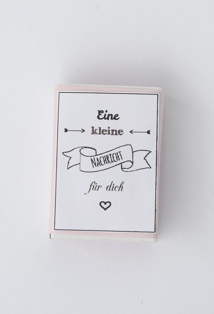 Kleine Liebesbotschaft aus einer Streichholzschachtel für meinen Alltagshelden #werbung für Idealclean