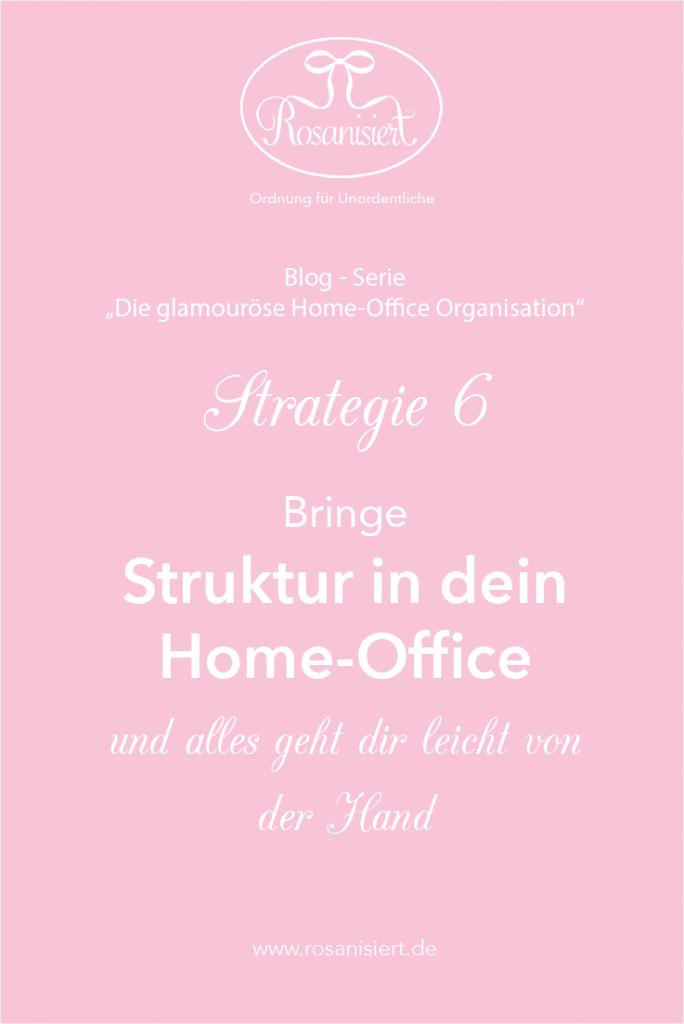 Home-Office Organisation - Struktur
