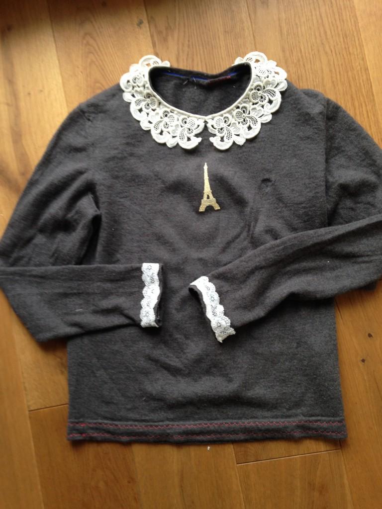 Wäsche sortieren: Pullover refashioned