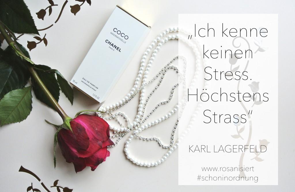 Keine Zeit? Denk an Karl Lagerfeld - Ich kenne keinen Stress. Höchstens Strass