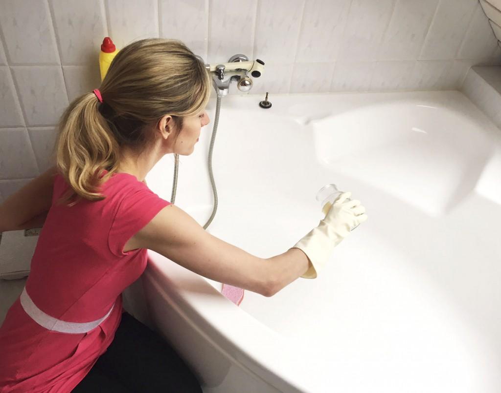 Badewanne putzen - die besten Tricks - Rosanisiert Ordnung für Unordentliche