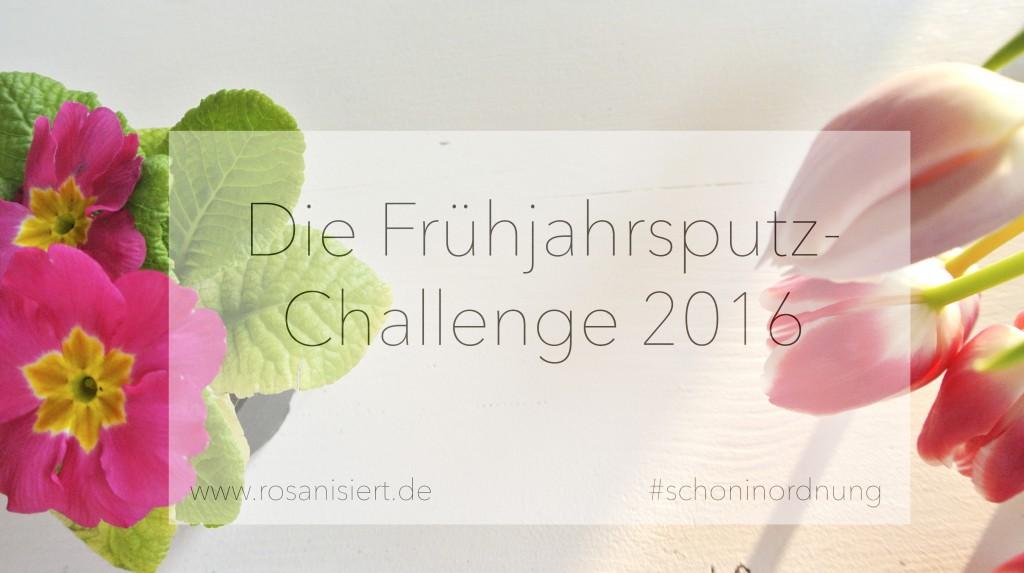Heute starte ich mit der ultimativen Frühjahrsputz Challenge - mcht ihr mit? | Rosanisiert - der Ordnungsblog für Unordentliche