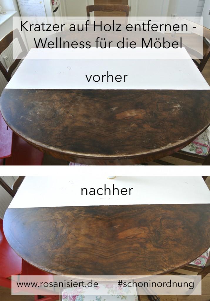 Kratzer auf Holz entfernen Titel