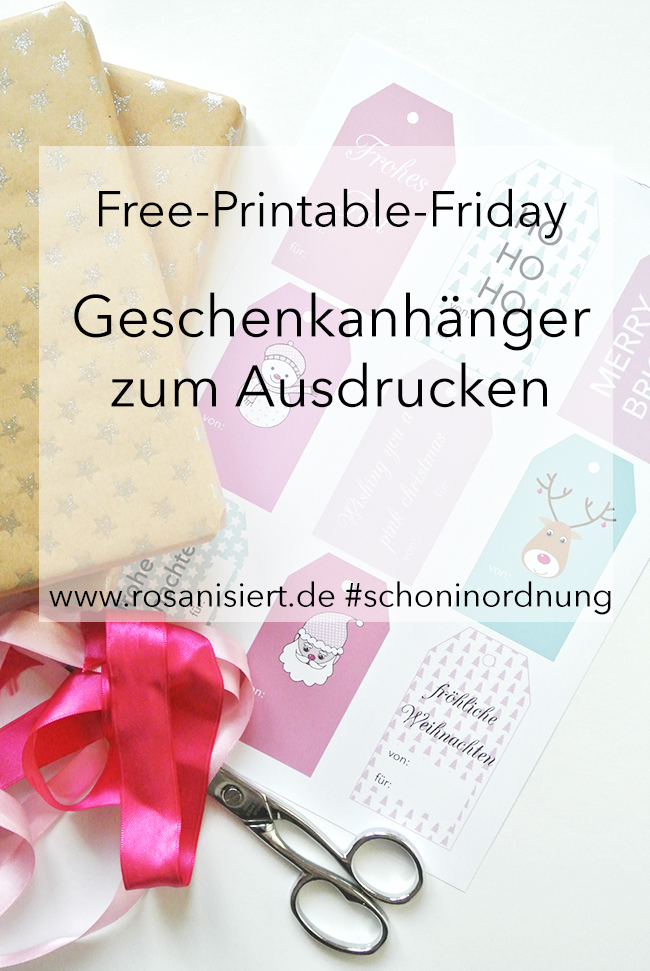 Free Printable Friday Geschenkanhänger Zum Ausdrucken Rosanisiert