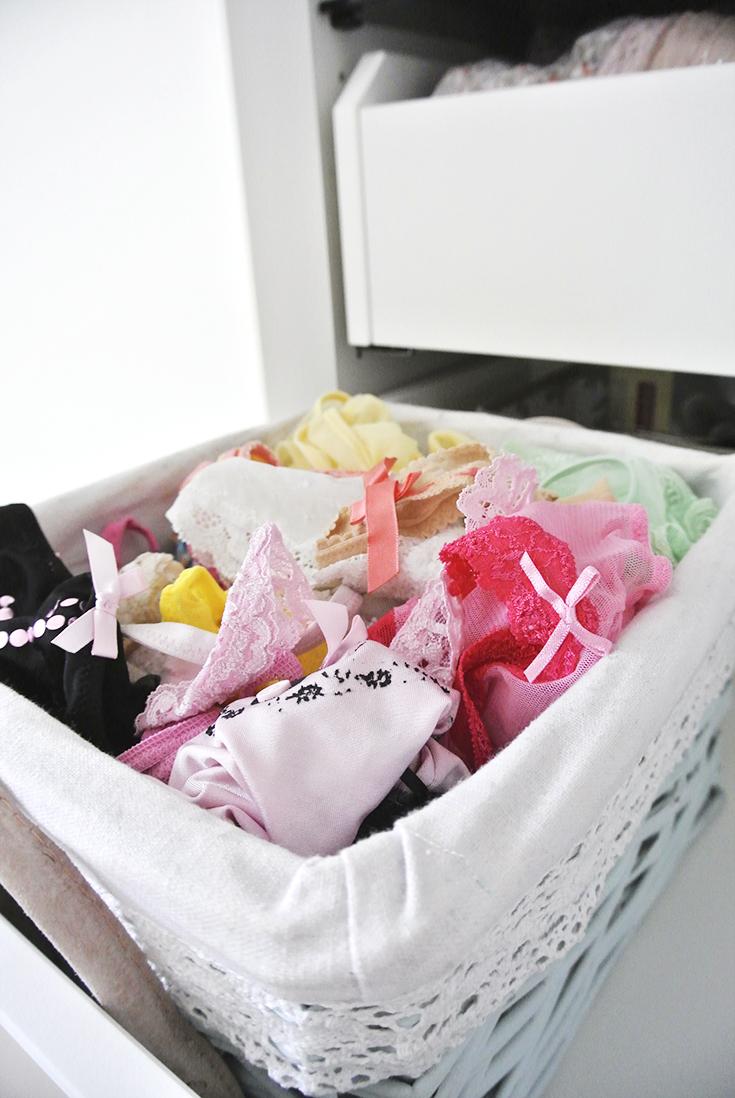 Unterwäsche ordnen - schnell und einfach - Rosanisiert