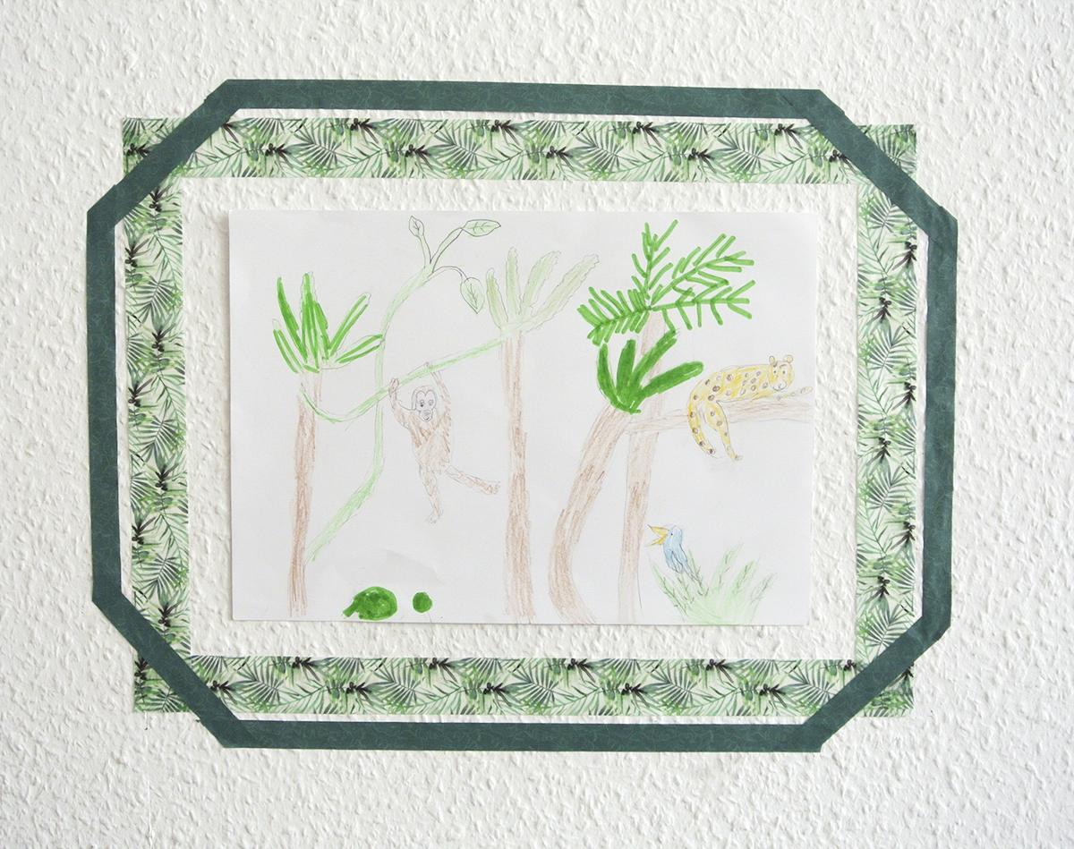 Auch Diese Variante Lasst Sich Leicht Austauschen Sodass Immer Das Aktuellste Kunstwerk Gezeigt Wird Hier Hat Holly Einen Dschungel Gezeichnet
