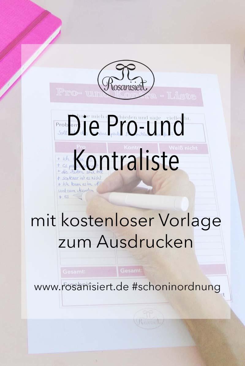 Anzeige: Free Printable zum Entscheidungen treffen. Bei Rosanisiert gibt es heute ein kostenloses Printable, eine tolle Pro- und Kontra-Liste, mit der ihr garantiert jedes Problem lösen könnt. Außerdem stelle ich euch den schönen Füller Schneider Base rosé vor - ein Traum in rosa.