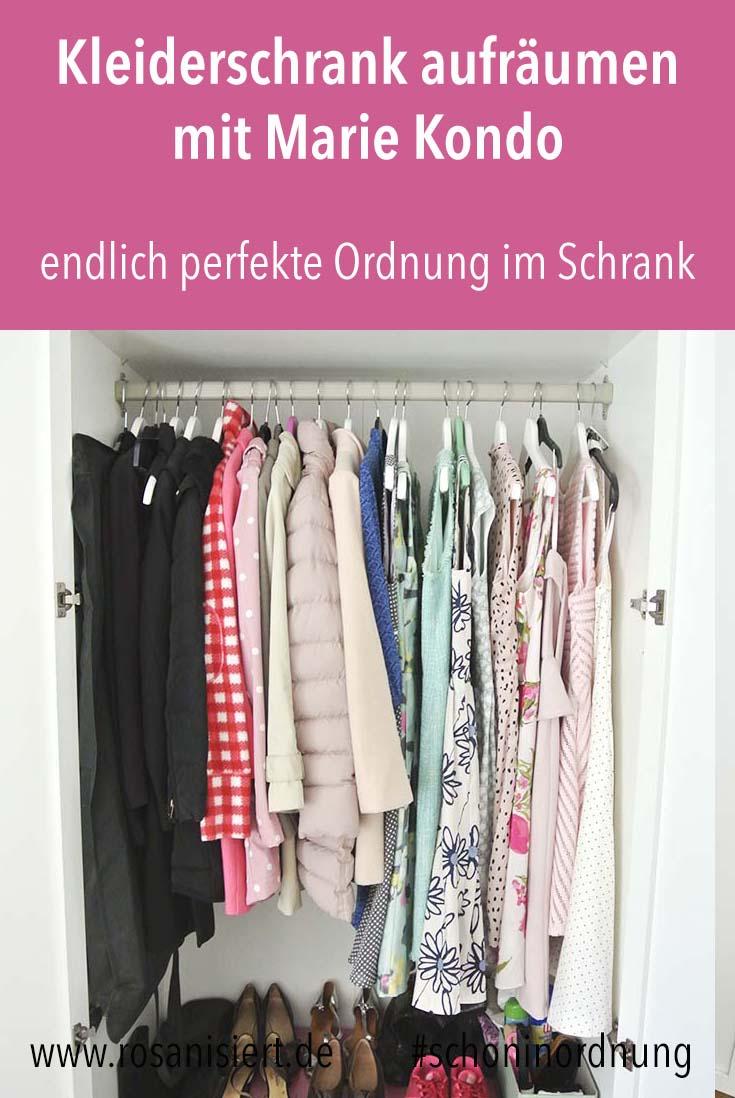 In diesem Beitrag zeige ich euch, wie Kleiderschrank aufräumen mit der KonMari Magic Cleaning Methode von Marie Kondo funktioniert. Endlich habe ich die perfekte Ordnung im Schrank. Außerdem mache ich den Test - sind ihre Tipps auch wirklich umsetzbar und hält die Ordnung auch langfristig? #schoninordnung