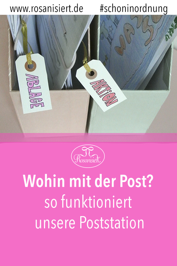 In diesem Beitrag zeige ich dir, wie wir die eingehende Post organisieren mithilfe unserer einfachen Poststation. Endlich gibt es keine Papierhaufen mehr überall und es herrscht Ordnung im Flur und Ordnung in der Küche.