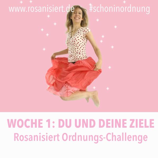 Woche 1: Gedanken ordnen und Schönheitspflege. In der ersten Woche der Rosanisiert Ordnung-Challenge räumen wir uns erst einmal selbst auf. Wir widmen uns unserem Äußeren und ordnen unsere Gedanken.