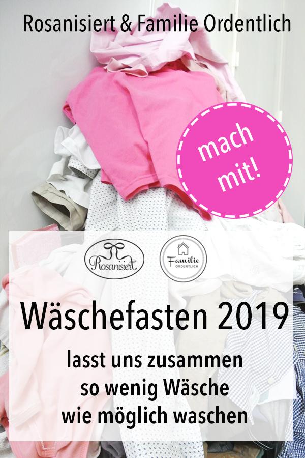 In diesem Jahr wollen wir Wäschefasten - wir versuchen in der Fastenzeit so wenig Wäsche wie möglich zu prodzieren und somit weniger Ladungen Wäsche zu waschen.